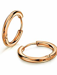 cheap -316L Surgical Stainless Steel Huggie Hoop Earrings 8mm/10mm/12mm/14mm/16mm/18mm/20mm Cartilage Helix Lobes Daith Conch Rook Septum Rings Ear Piercing Jewelry