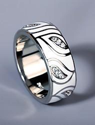 cheap -Ring AAA Cubic Zirconia Two Stone Silver Brass Flower Asian Elegant Fashion 1pc 6 7 8 9 10 / Women's