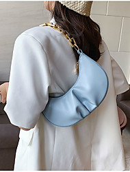 cheap -Women's Bags PU Leather Crossbody Bag Zipper Chain Plain 2021 Daily Going out Blue Purple