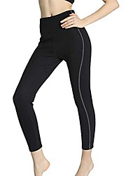 cheap -Neoprene Hot Pants Anti-Cellulite Thermo Sweat Slimming Pants for Body Shaper and Weight Loss (Black-Long Pants, 3XL)