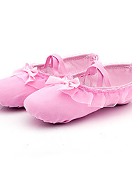 cheap -Girls' Ballet Shoes Flat Flat Heel Pink Elastic Band Children's