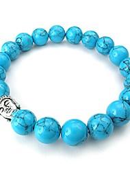 cheap -natural energy stone beads gemstone mens womens bracelet, 10mm buddha mala, blue silver