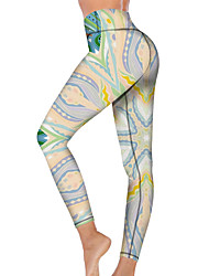 cheap -21Grams Women's High Waist Yoga Pants Cropped Leggings Tummy Control Butt Lift Breathable Light Purple Fitness Gym Workout Running Winter Sports Activewear High Elasticity