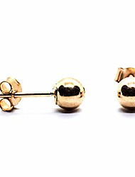 cheap -9ct yellow gold 4 mm ball earrings