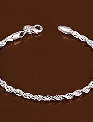 cheap -Chain Bracelet Bracelet Classic Fashion Fashion Copper Bracelet Jewelry Silver For Christmas Halloween Party Evening Gift Date / Silver Plated
