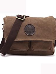 cheap -men retro crossbody bag canvas shoulder bag messenger