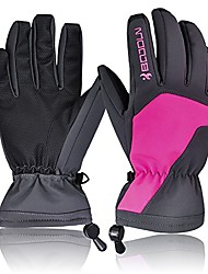 cheap -Full Finger Winter Warm Gloves Waterproof Paded Gloves for Riding, Motorcycle, Snowboard, Skating (Color : Rose Red)