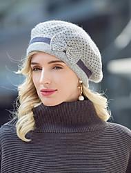 cheap -Headwear Acrylic / Cotton / Rabbit Hair Hats with Bowknot / Polka Dot 1pc Casual / Daily Wear Headpiece