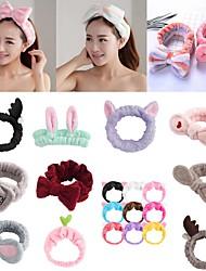 cheap -5pcs Headband For Washing Wash Face Bow Makeup Hairbands Girls Elastic Holder Hair Strap Bands Ears Turban Hair Accessories