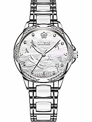 cheap -crystal dragonfly watches for women automatic watches for her calendar luminous girls mechanical watches ceramic watchband