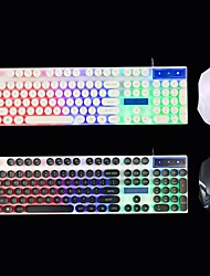 cheap -GTX300 104 Keys Punk Circular KeyCap Backlit Gaming Keyboard and Mouse Combo