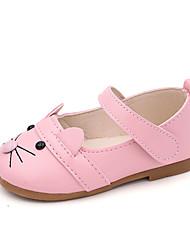 cheap -Girls' Flats Princess Shoes PU Little Kids(4-7ys) Daily Walking Shoes White Black Pink Fall Spring
