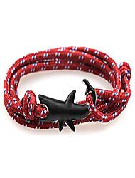 cheap -Unisex Nylon Rope Shark Wrap Bracelet for Men and Women 30 Inches