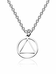 cheap -recovery aa necklace keychain alcoholics anonymous gifts for men women (2cm diameter aa necklace)