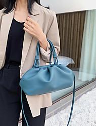 cheap -women solid pouch handbag crossbody bag clutch bag dumpling