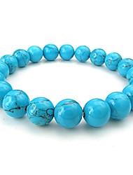 cheap -mens womens bracelet, natural energy stone gemstone 10mm beads, blue