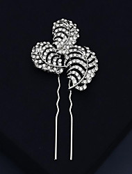cheap -Modern Contemporary Sweet Rhinestone / Alloy Hair Stick / Hair Accessory with Crystal / Rhinestone / Split Joint 1 PC Wedding / Party / Evening Headpiece