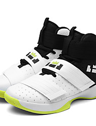 cheap -Unisex Trainers Athletic Shoes Sporty Outdoor Basketball Shoes PU Non-slipping White / Green Black / Yellow Black / Blue Fall Spring