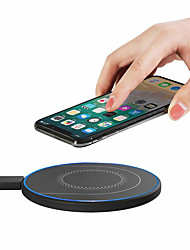 cheap -OUKU 15W 10W 7.5W 5W Wireless Charger Fast Wireless Charging Pad For Qi-enabled Smart Phones for iPhone 11 SE 2020 For Samsung Galaxy Note 20 Ultra Huawei P40 Pro Mi10 - Black