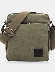 cheap -men canvas solid color outdoor casual crossbody bag shoulder bag