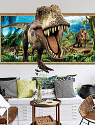 cheap -3D Effect Dinosaur Wall Paste Children's Room Background Wall Decoration Can Be Removed Stickers