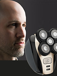 cheap -Five-head Electric Bald Razor Rechargeable Razor Whole Body Washing Razor For Men