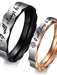 cheap -romantic i will always be with you couple promise wedding ring set/ring necklace a pair for lover