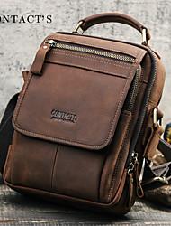cheap -men vintage retro genuine leather shoulder bag crossbody bag