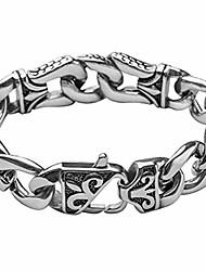cheap -Telitxy Amazing Men's Stainless Steel link Bracelet Silver Black by  8.51 Inch