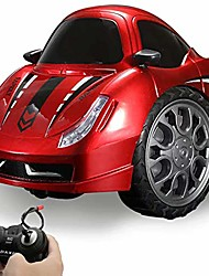 cheap -Children's Toy car, 360 Rotating Drift Electric Two-Wheeled Stunt car Model Racing Toy, with LED Dazzling Lights, Suitable for 4, 5, 6, 7, 8-Year-Old Boys and Girls Gifts (red)