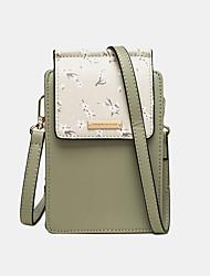 cheap -women 6.5 inch phone holder 6 card slot floral crossbody bag