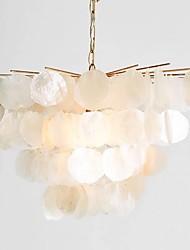 cheap -5-Light 55 cm Lantern Desgin Chandelier Metal Shell Painted Finishes Modern 110-120V 220-240V