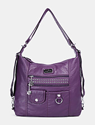 cheap -angel kiss women pu leather multi-carry waterproof convertible anti-theft wear-resistance crossbody bag shoulder bag backpack