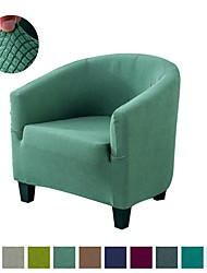 cheap -Stretch Club Chair Cover Tub Chair Sliocover Plain Solid Color Durable Washable Furniture Protector