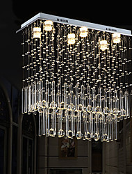 cheap -6-Light 70 cm Unique Design Geometric Shapes Single Design Chandelier Metal Layered Artistic Style Modern Style Chrome Artistic Modern 110-120V 220-240V
