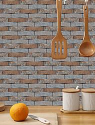 cheap -imitation retro ceramic tile kitchen stickers waterproof and putty coffee block sheet self-adhesive decorative wall stickers 15cm*30cm*6pcs