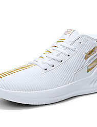 cheap -Men's Trainers Athletic Shoes Sporty Outdoor Basketball Shoes Tissage Volant Non-slipping Black / Gold Black / Red White Fall Spring