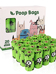 cheap -Dog Pets Poop Bags Biodegradable Waste Bags Outdoor Clean Pets Supplies Biodegradable HDPE+EPI Dog Clean Supply Portable Disposable Pet Grooming Supplies Red Green