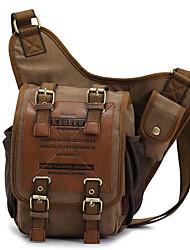 cheap -kaukko men retro canvas travel shoulder bags
