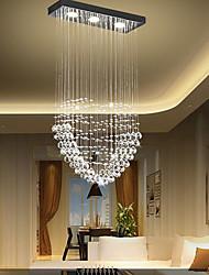 cheap -45cm Crystal Chandelier Heart Design LED Ceiling Light Romantic Stainless Steel Electroplated Modern Tricolor Light Source Valentine's Day 110-120V 220-240V