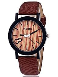 cheap -Gift Watch Wensltd Clearance Sale! Women Men Wooden Color Leather Watch