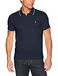 cheap -Men's Short Sleeve Tipped Polos, vintage indigo