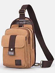 cheap -men vinatge anti-theft canvas chest bag shoulder bag
