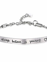 cheap -Always Believe in Yourself Inspirational Bracelet Adjustable Bangle Gift for Women