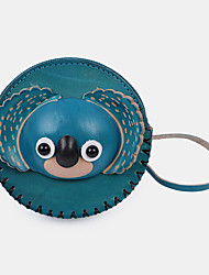 cheap -unisex genuine leather cartoon animal koala creative cute storage bag coin bag wallet