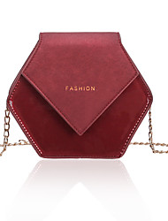cheap -Women's Girls' Bags PU Leather Mobile Phone Bag Messenger Bag Solid Color Daily Going out 2021 Chain Bag MessengerBag Black Red Brown