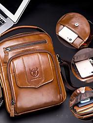 cheap -bullcaptain men genuine leather shoulder bag for outdoor