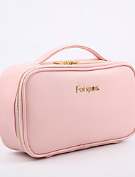 cheap -Women's Bags PU Leather Top Handle Bag Lace Zipper Letter 2021 Going out Outdoor Blushing Pink