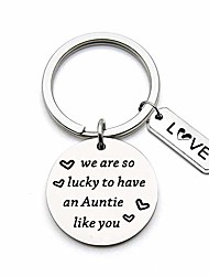 cheap -gift for aunt auntie keychain we are so lucky to have an auntie like you aunt gift from nephew niece (auntie keychain)