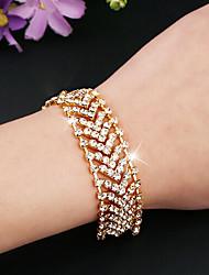cheap -Women's Tennis Bracelet Hollow Out Fashion Fashion Rhinestone Bracelet Jewelry Gold / Silver For Christmas Halloween Gift Date Festival